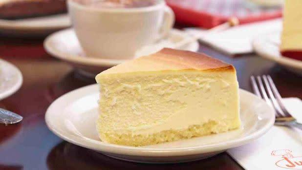 Slice of Junior's Cheesecake