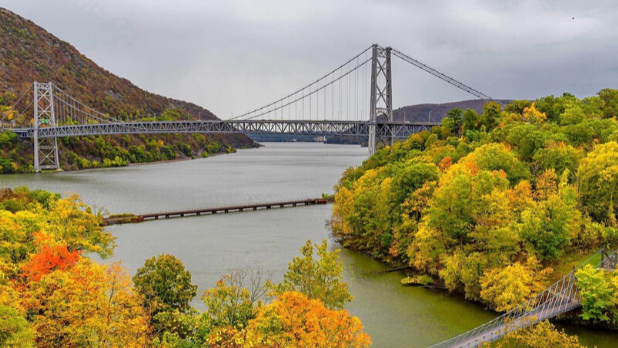 A picture of Bear Mountain State Park during the fall season