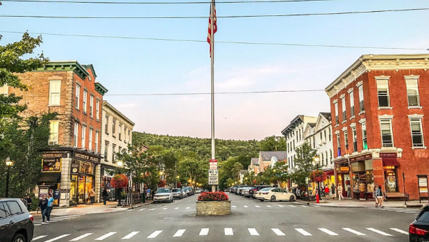 A distance picture of Main Street in Cooperstown