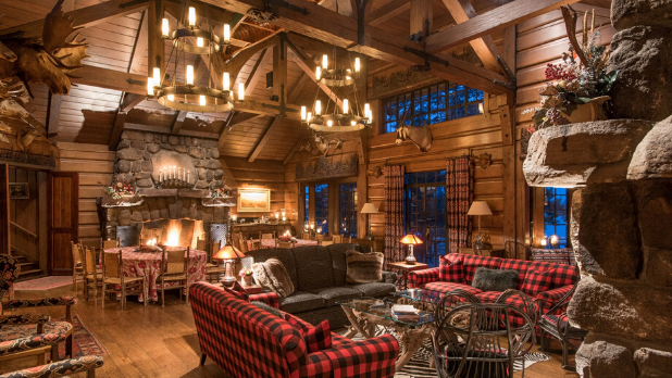 A picture of the inside of Point Resort in the Adirondacks