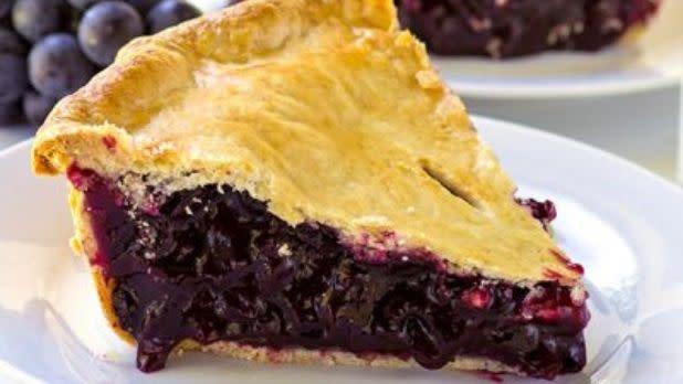 A slice of Concord Grape Pie
