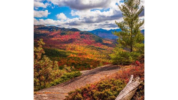 A trail on the Adirondacks High Peaks during the fall season