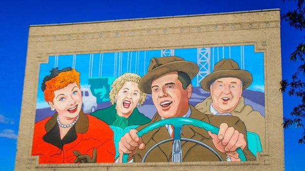 The I Love Lucy Mural in Jamestown