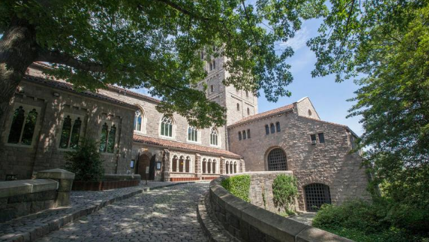 The exterior of The Met Cloisters on a sunny day