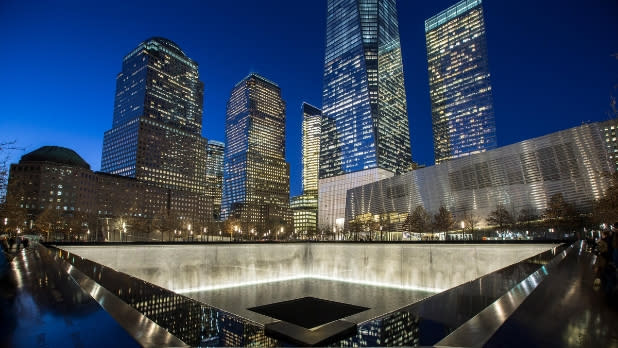 9/11 Memorial & Museum at night