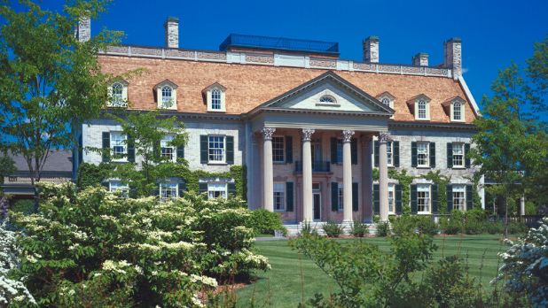 The exterior of the George Eastman Museum on a sunny day