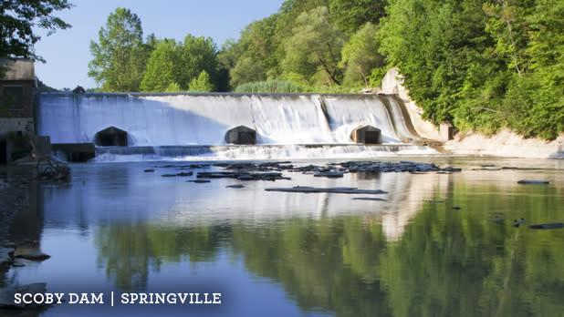 Scoby Dam in Springville