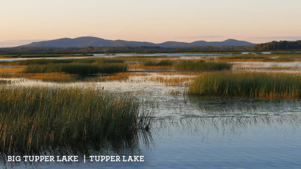 A photo of Tupper Lake along the Adirondack Trail