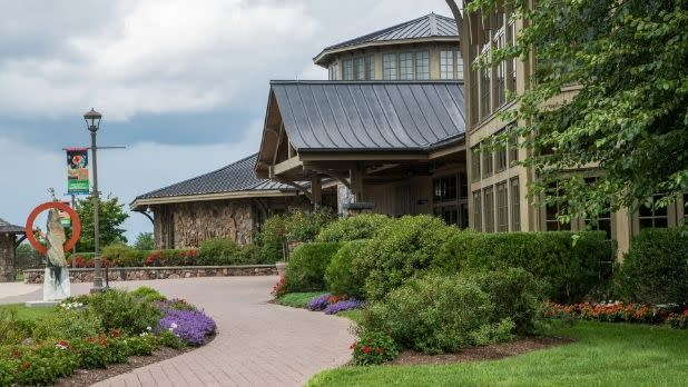 Exterior view of Bethel Woods Center for the Arts