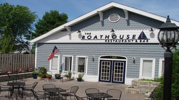 Exterior of The Boathouse at Sackets Harbor Restaurant