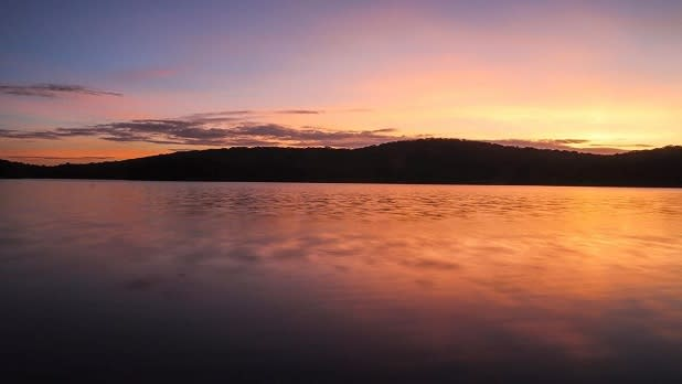 Sunset on the lake at Harriman State Park