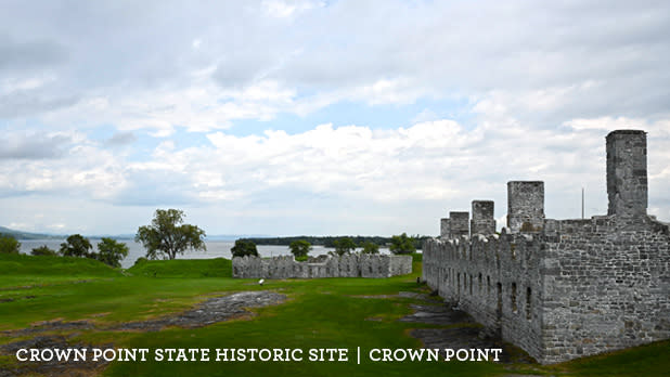 A photo of Crown Point State Historic Site on a sunny day