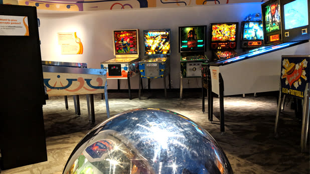 Pinball room at the Strong Museum of Play