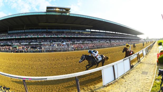 Horses racing at Belmont Stakes Racing Festival Long Island