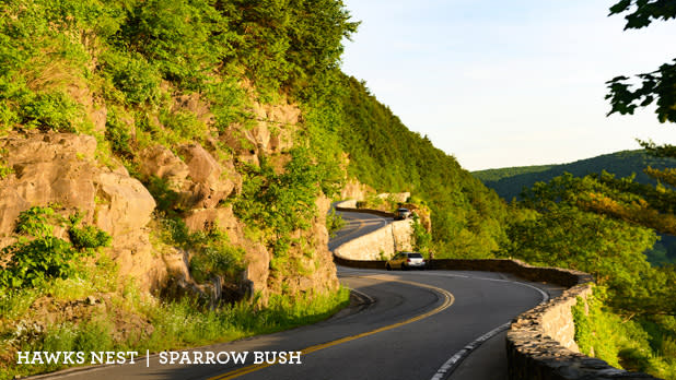 A photo of the Hawks Nest along the Upper Delaware Scenic Byway