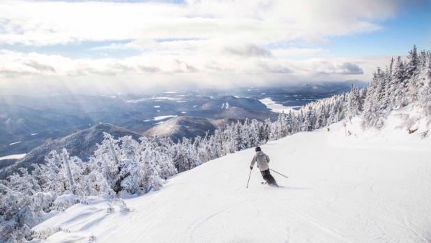 A skier on Whiteface Mountain