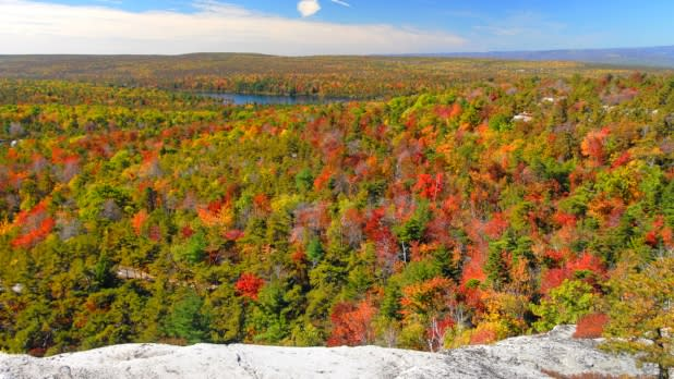 Fall foliage overlooking Minnewaska State Park