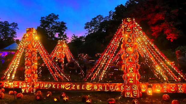 Night lights at the Great Jack O'Lantern Blaze