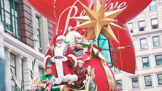 Santa at Macys Parade