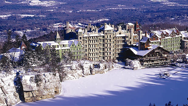 Mohonk Mountain House Covered in Snow