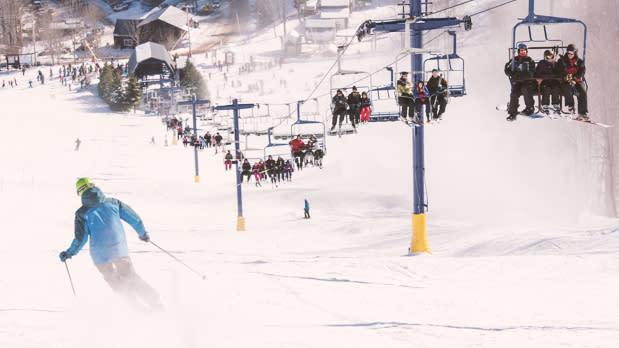 Skiers at Plattekill
