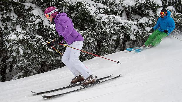 Couple Skiing at Holiday Valley