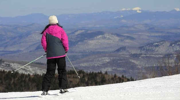 Skier on Gore Mountain in the Adirondacks