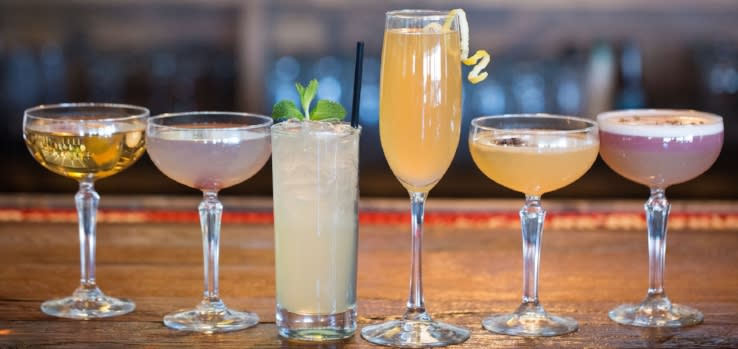 Different alcoholic beverages from Louie's Wine Dive Overland Park
