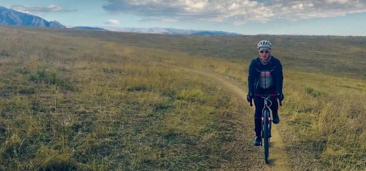 Person Gravel Biking South Boulder Groad in Boulder