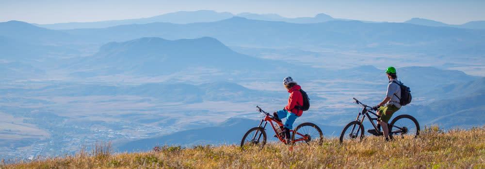 Mountain biking in Steamboat Springs, CO