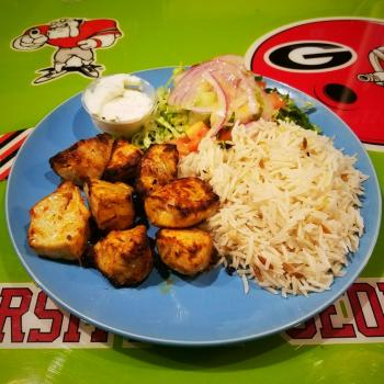 Cafe Istanbul chicken kabob