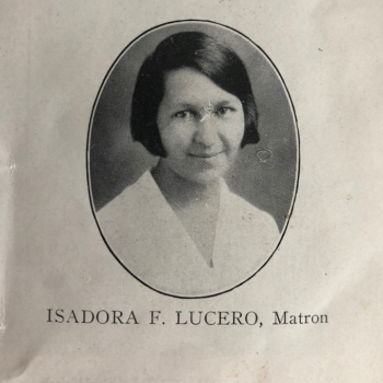 Isadora Lucero (Isleta Pueblo); first supervisor for the Tewa Weavers Shop
