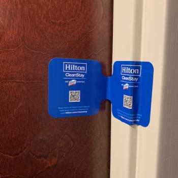hampton inn door stickers