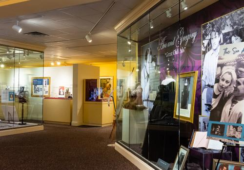 Interior shot of exhibits at the Ava Gardner Museum located in Smithfield, NC.
