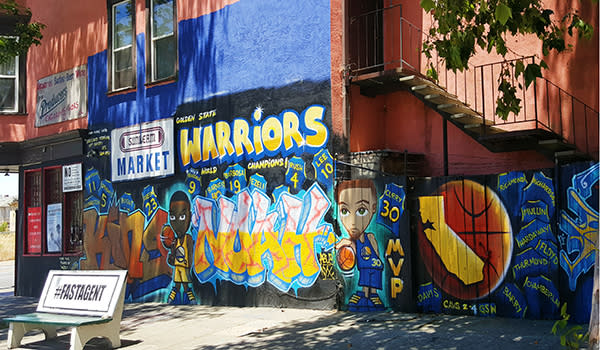 Warriors Mural Downtown