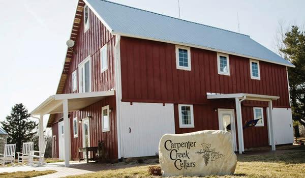 Carpenter Creek Cellars location and sign