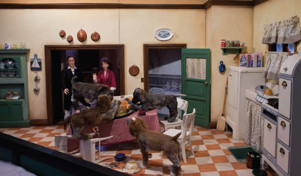 "Bumpus Hounds window display from ""A Christmas Story"""