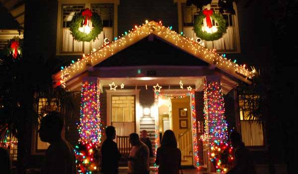Houston Holiday lights in the heights