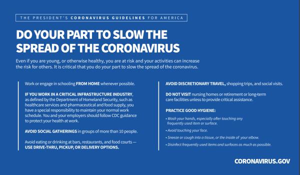 Coronavirus (COVID-19) Tips