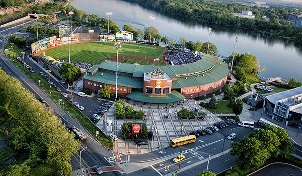 An image of the home stadium of the Trenton Thunder Baseball team, minor league affiliate of the New York Yankees