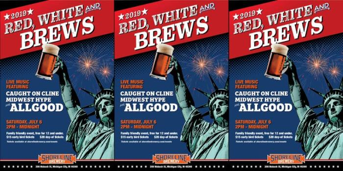 Red, White and Brews - Shoreline Brewery