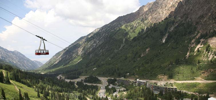 9b90a91bb6b5f Snowbird s Aerial Tram floats you from the Snowbird Center at the resort s  base to the top of Hidden Peak