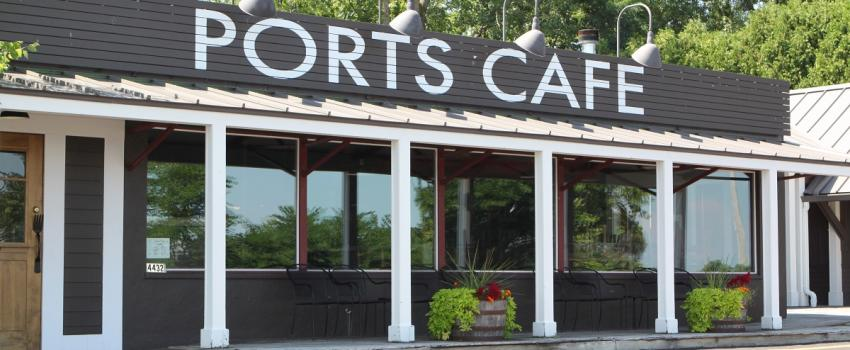 Exterior of Ports Cafe in Naples