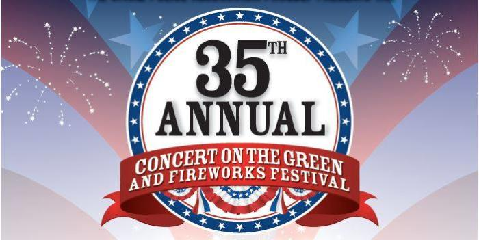Irvine Police Association july 4th 35th annual concert on the green fireworks