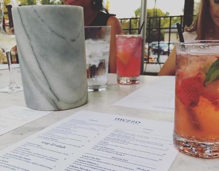 Mezzo Patio Table with Drinks