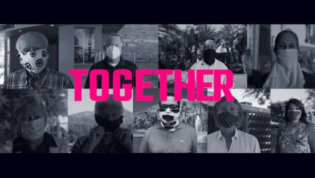 Together wearing a mask Graphic