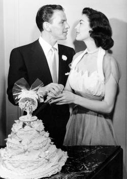 Ava and Frank wedding day, 1951.