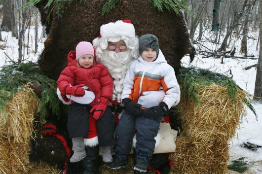 Santa in the Forest at FortWhyte Alive