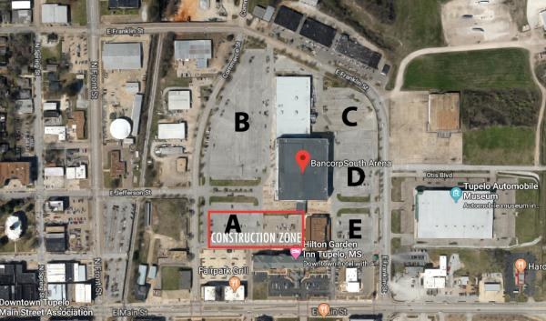 Construction Zone Parking Map