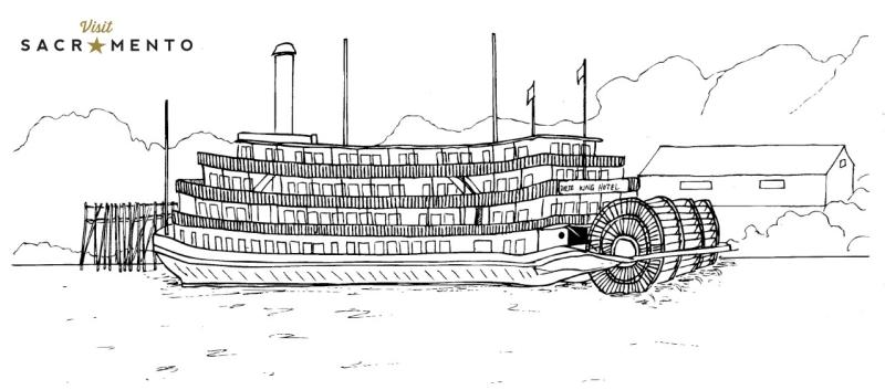 Delta King Hotel Coloring Page